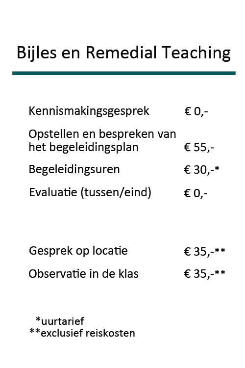 Tarieven Prakijk Bij De Hand_Bijles_2020